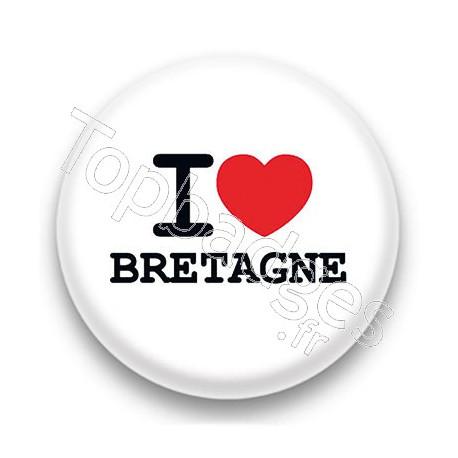 Badge I Love Bretagne