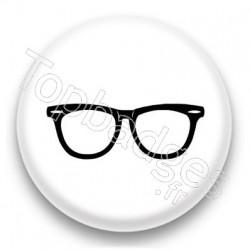 Badge Lunette noire
