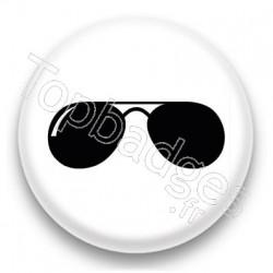 Badge lunettes de soleil noires