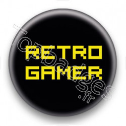 Badge Retro Gamer Jaune