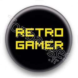 Badge Retro Gamer Jaune
