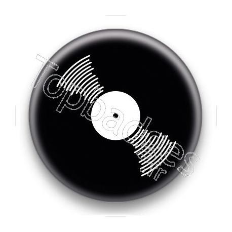 Badge Vinyle noir