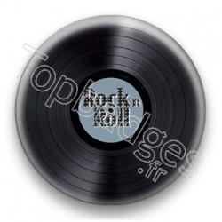 Badge Vinyle Rock n Roll