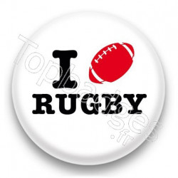 Badge I Love Rugby