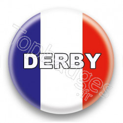 Badge Derby drapeau français
