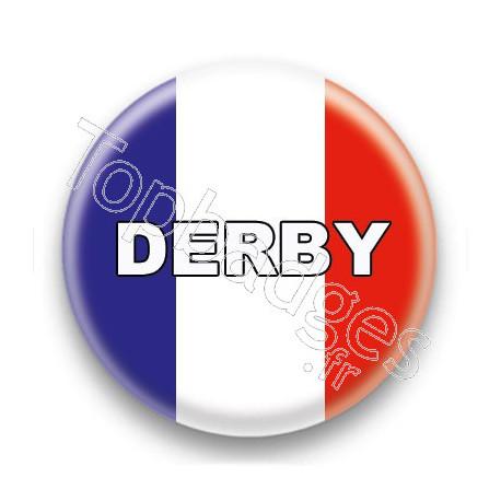 Badge Derby drapeau français