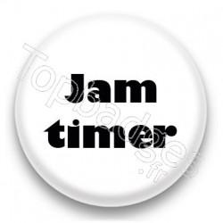 Badge Jam timer fond blanc