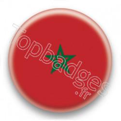 Badge Drapeau Maroc