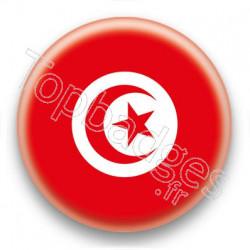 Badge Drapeau Tunisie