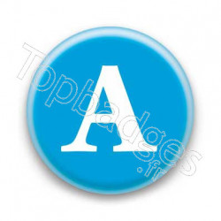 Badge Lettre A