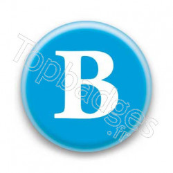 Badge Lettre B