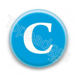 Badge Lettre C
