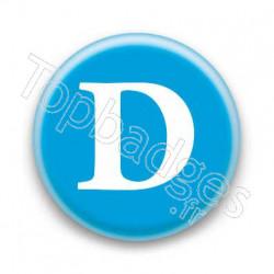 Badge Lettre D