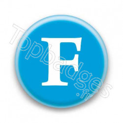 Badge Lettre F