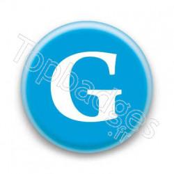Badge Lettre G