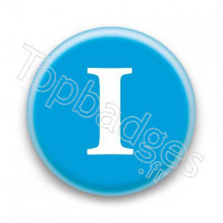 Badge Lettre I