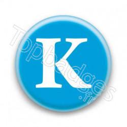 Badge Lettre K