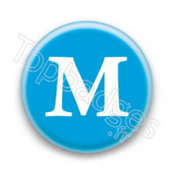 Badge Lettre M