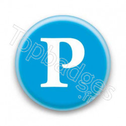 Badge Lettre P