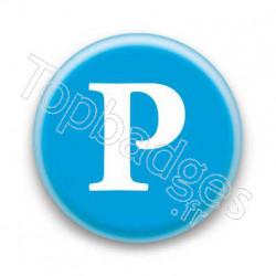Badge Lettre P