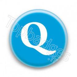 Badge Lettre Q