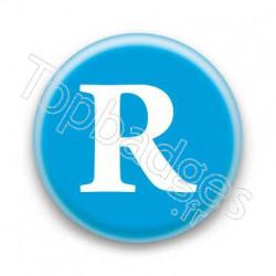 Badge Lettre R