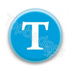 Badge Lettre T