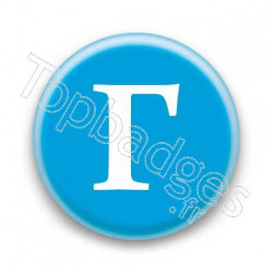 Badge Lettre grecque G