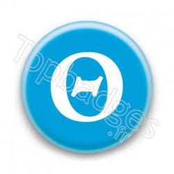 Badge Lettre grecque TH