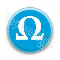Badge Lettre grecque Ô