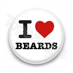 Badge I Love Beards