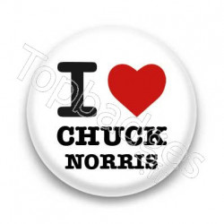 Badge I Love Chuck Norris