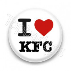 Badge I Love KFC
