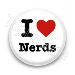 Badge I Love Nerds