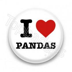 Badge I Love Pandas