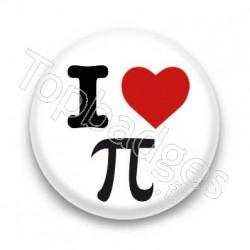 Badge I Love Pi