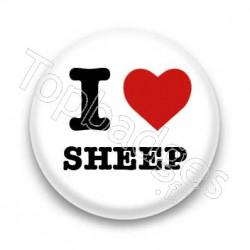 Badge I Love sheep