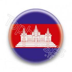 Badge Drapeau Cambodge