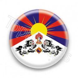 Badge Drapeau Tibet