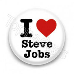 Badge I Love Steve Jobs