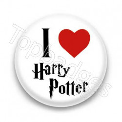 Badge I Love Harry Potter