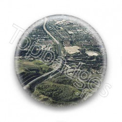 Badge la route vue du ciel