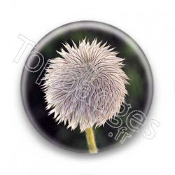 Badge fleur velue