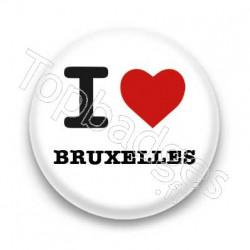 Badge I Love Bruxelles sur fond blanc