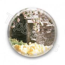 Badge Leeroy - tulipes et roses