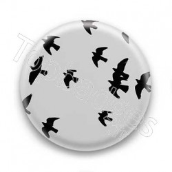 Badge Leeroy - black birds
