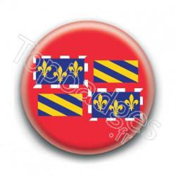 Badge drapeau Bourgogne