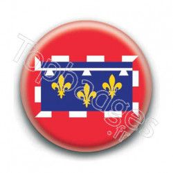 Badge drapeau Centre-Val-de-Loire