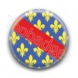 Badge drapeau département d'Allier