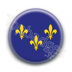 Badge drapeau Ile de France